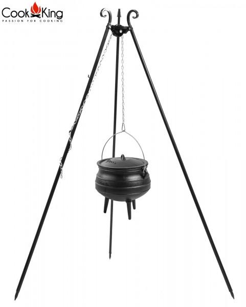 afrikanischer Gusseisenkessel mit Dreibein